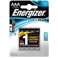 Energizer MaxPlus Pack of 4 AAA Batteries