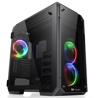 Thermaltake View 71 Tempered Glass RGB Edition Full Tower 2 x USB 3.0 / 2 x USB 2.0 4 x Tempered Glass Window Panels Black Case with RGB LED Fans